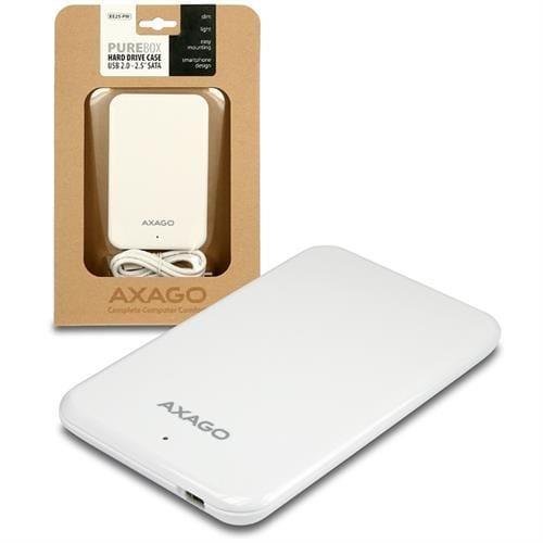 AXAGO USB2.0 - SATA 2.5'' externý PURE box WHITE EE25-PW