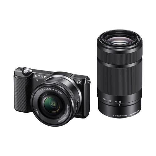 Sony A5000, 16-50+55-210mm, 20,1Mpix, čierna ILCE5000YB.CEC