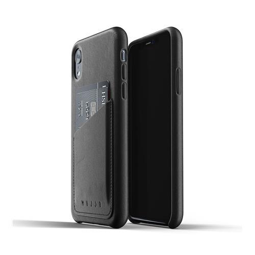 MUJJO Full Leather Wallet Case for iPhone XR - Black MUJJO-CS-104-BK