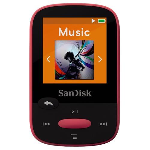 SanDisk MP3 Clip Sport 8GB ružová SDMX24-008G-G46P