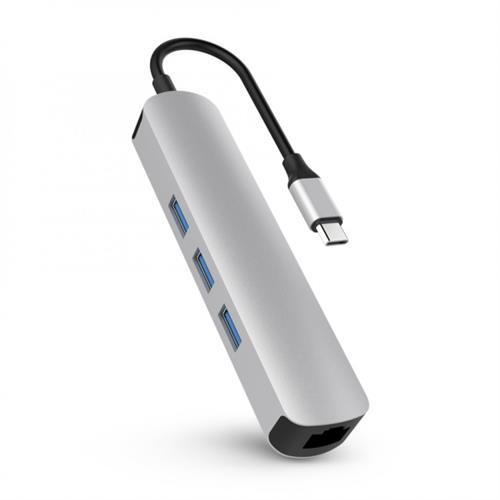 HyperDrive 6v1 USB-C Hub s 4K HDMI - Strieborný HY-HD233A-SILVER