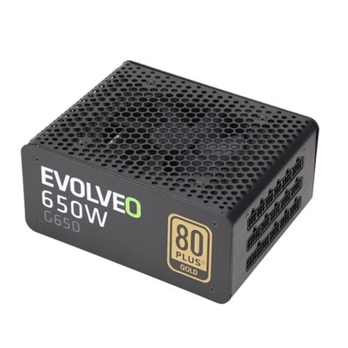 EVOLVEO G650 zdroj 650W, eff 90%, 80+ GOLD, aPFC, modulární, retail E-G650R