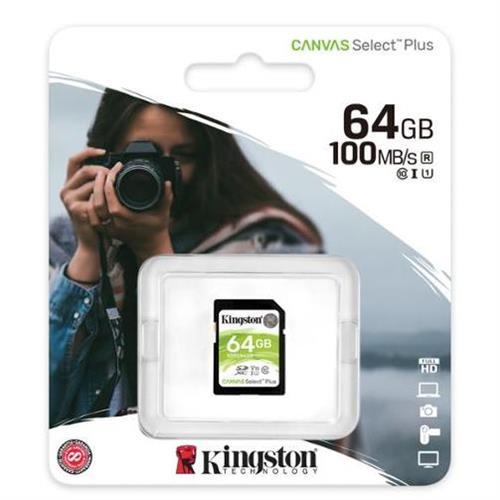 64GB SDXC Kingston Canvas Select Plus U1 V10 CL10 100MB/s SDS2/64GB
