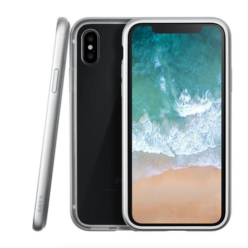 LAUT Exoframe – Case for iPhone X, Silver LAUT-iP8-EXI-SL