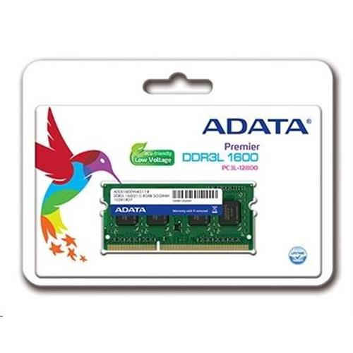 SO-DIMM 8GB DDR3L-1600MHz ADATA CL11 1,35V ADDS1600W8G11-S