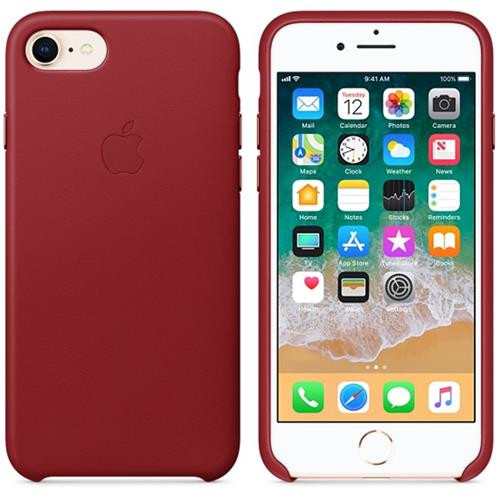 Apple iPhone 8 / 7 Leather Case - (PRODUCT)RED MQHA2ZM/A