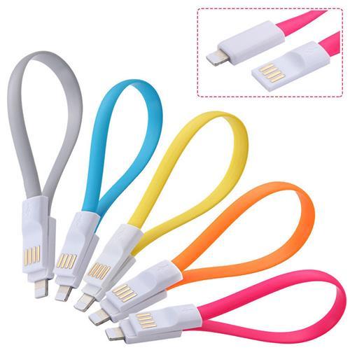 Mini Magnetický USB nabíjací kábel ružový 225mm BELLAPROX s lightning konektorom BP-CAB-light-MAG225R