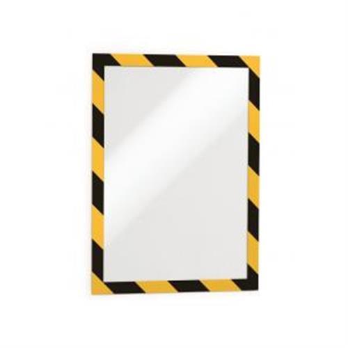 Samolepiaci Duraframe Security A4, žlto-čierny, bal.2 ks DU494430