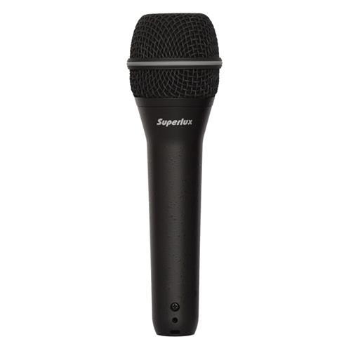 Mikrofón Superlux TOP258 dynamický bez vypínača univerzálny, 50Hz-16kHz - čierny