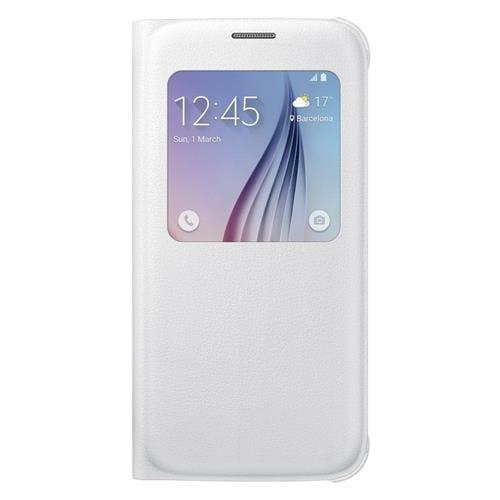 Samsung flipové puzdro S-view EF-CG920P na Samsung Galaxy S6 (SM-G920F), biele EF-CG920PWEGWW