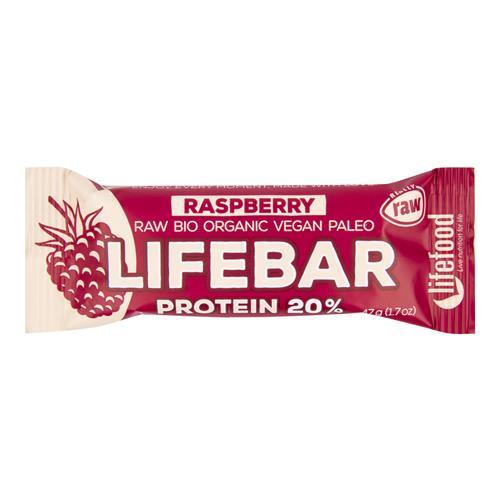 Tyčinka Lifebar proteín malinová 47 g BIO LIFEFOOD 630201