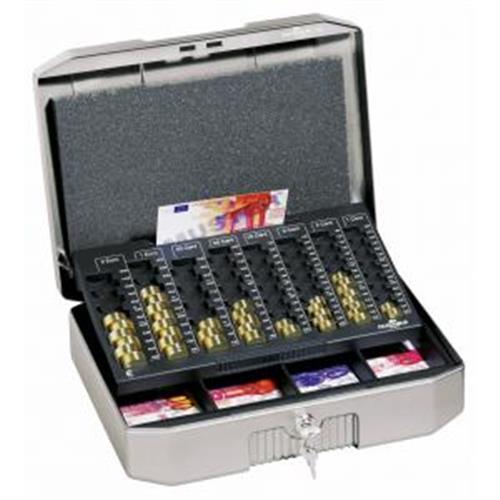 Euro-pokladnička DURABLE EUROBOXX 352x120x276mm strieborná DU178257