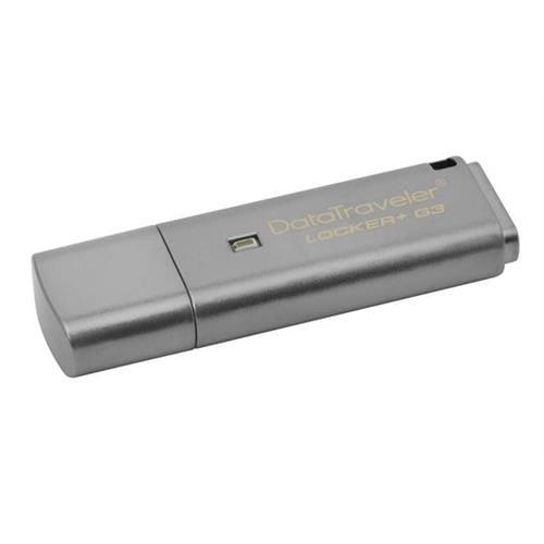 USB Kľúč 16GB Kingston DataTraveler Locker sivý + G3 w/Automatic Data Security DTLPG3/16GB