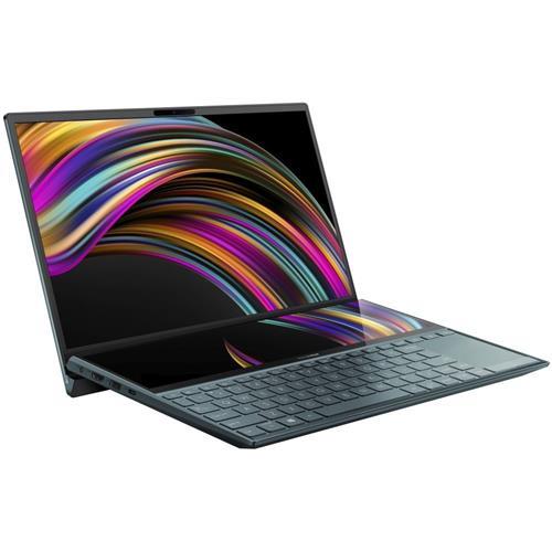 """ASUS Zenbook Duo UX481FL-BM044T Intel i7-10510U 14,0"""" FHD IPS MX250/2GB 16GB 512GB SSD WL BT Cam W10 modrý;ScreenPad +"""