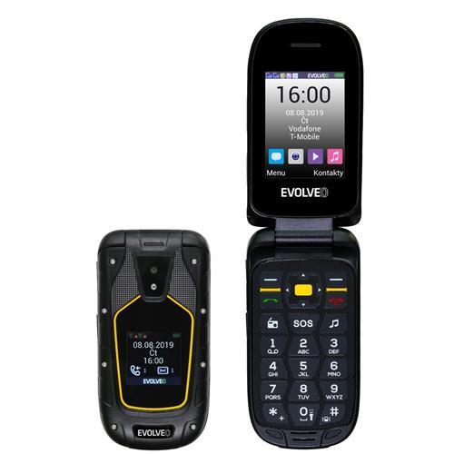 EVOLVEO StrongPhone F5, vodotesný odolný Dual SIM telefón SGP-F5-B