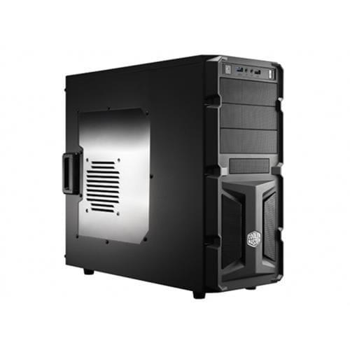 Skrinka CoolerMaster miditower K350, ATX, čiena, USB3.0, priehľ. bok, bez zdroja, príprava pre vodné chladenie RC-K350-KWN2-EN