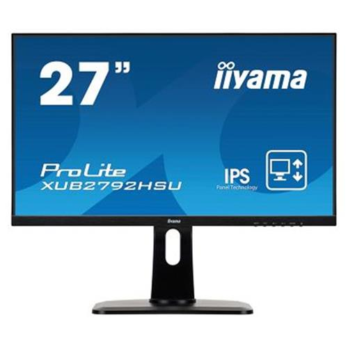 Monitor iiyama XUB2792UHSU B1   27    IPS  FullHD(16:9)@75Hz  250cd m2  4ms  VGA  HDMI  DP  USB  height  čierny XUB2792HSU B1