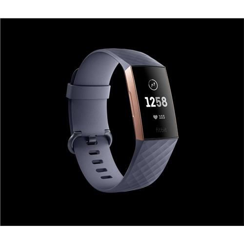 Fitbit Charge 3 - Rose Gold / Blue Grey FB409RGGY-EU