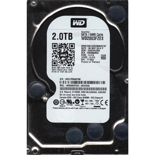 """Pevný Disk WD Black 2TB, 3,5"""", 64MB, 7200RPM, SATAIII, WD2003FZEX"""