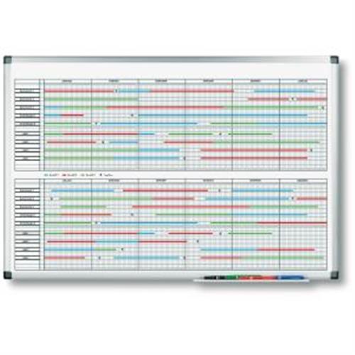 Plánovacia tabuľa PREMIUM na dlhodobé projekty 60x90 cm LM414000