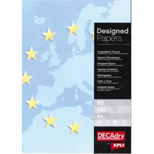 Ilustračný papier Europa modrá 90g 100 hárkov AG000514