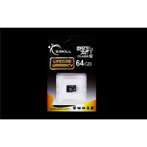 G.Skill pamäťová karta Micro SDXC 64GB Class 10 UHS-1 FF-TSDXC64GN-U1