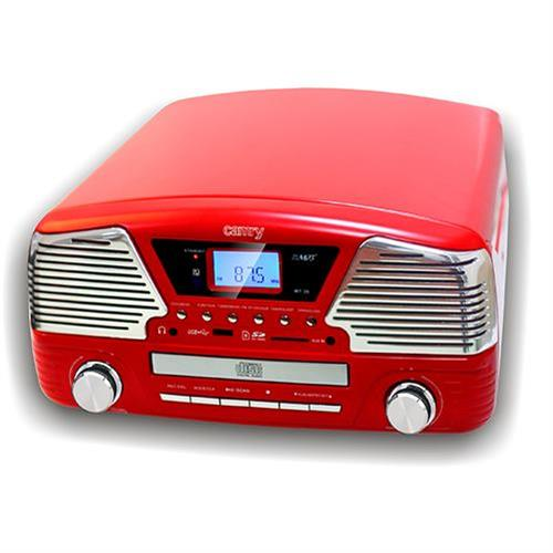 CAMRY CR 1134R Gramofón/Rádio/MP3/USB/CD red