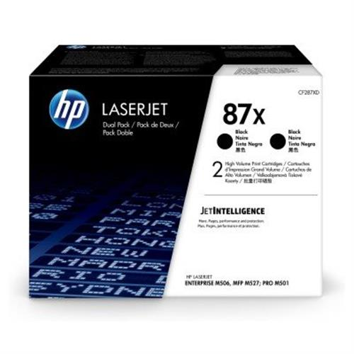 HP 87X 2-pack High Yield Black Original LaserJet Toner Cartridges (CF287XD)