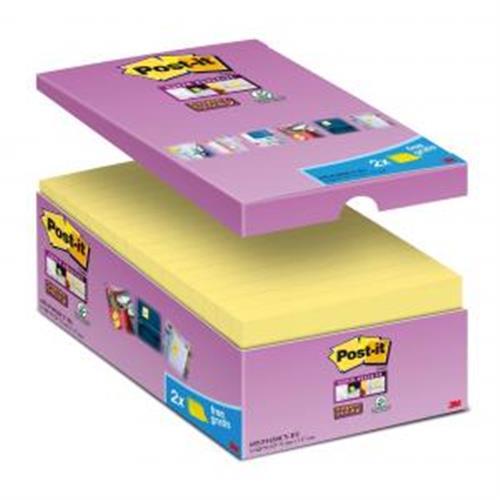 Bločky Post-it Super Sticky žlté 76x76mm 16x90l MM654016
