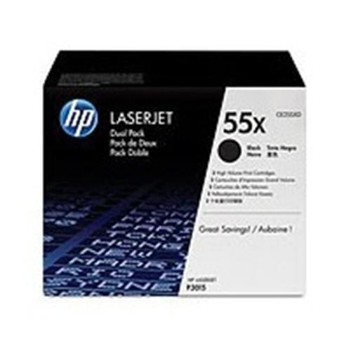 Toner HP CE255XD Dual pack pre LJ P3015, 2x12,5 00 strán