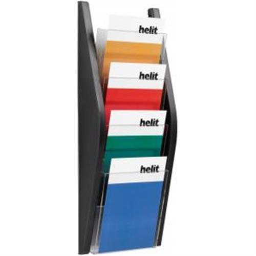 Prezentačný stojan Helit 4xA5 čierny HE627029