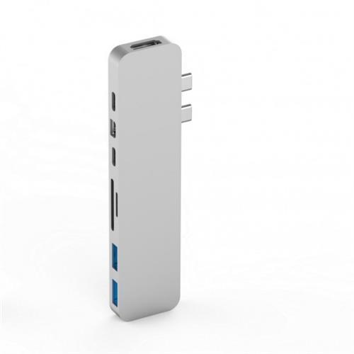 HyperDrive PRO USB-C Hub pre MacBook Pro - strieborný HY-GN28D-SILVER