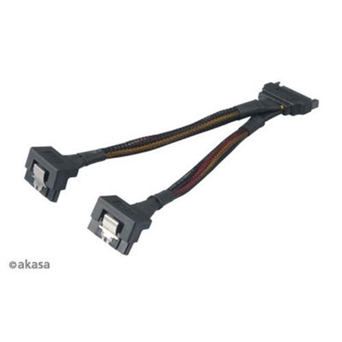 SATA napájacia rozdvojka 15pin Sata(M) na 2xSata(F) AK-CBPW15-15BK