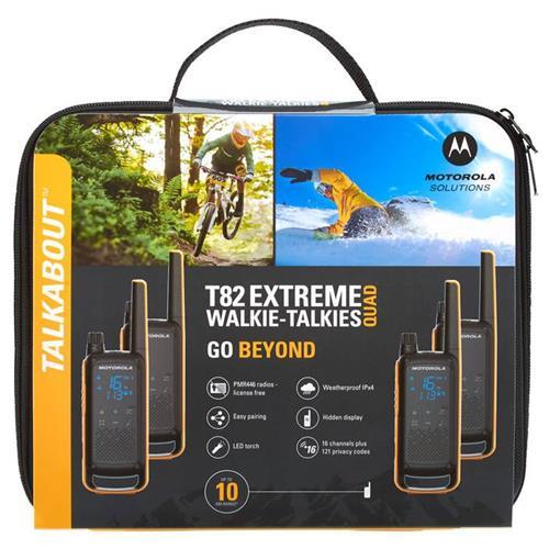 MOTOROLA T82 Extreme TALKABOUT blk/ora 4ks T82 EXT QUAD