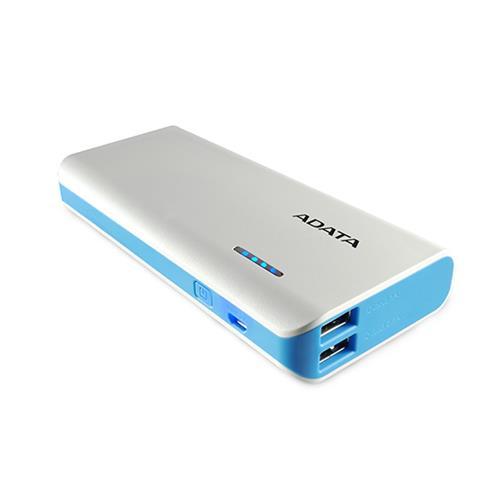 ADATA PT100 Power Bank 10000mAh biela/modrá APT100-10000M-5V-CWHBL