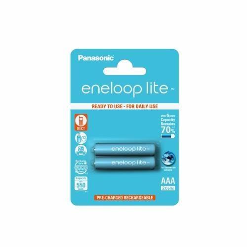 Panasonic Eneloop Lite R03/AAA 550mAh, 2 ks, Blister BK-4LCCE-2BE