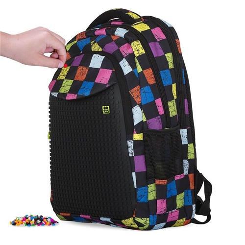 PIXIE CREW - študentský batoh FAREBNÉ KOCKY 702811686700