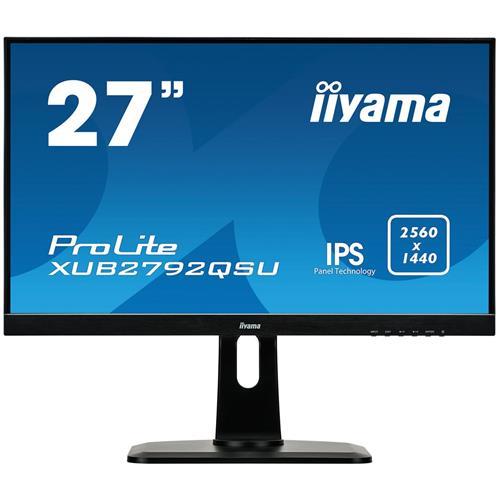 Monitor iiyama XUB2792QSU-B1, 27'', LCD, IPS,5ms, 350cd/m2, 2560x1440,DVI,HDMI,DP,USB,výšk.nast.,repro