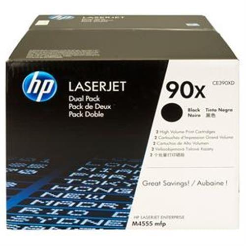 Toner HP CE390XD Čierny pre LJ Enterprise M4555serie, 2balenie, 2x24000str