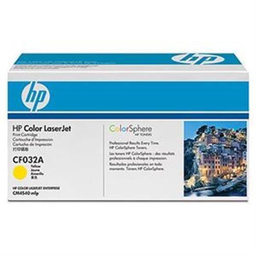 Toner HP CF032A HP646 žltá pre Color LaserJet CM4540, 12500str.