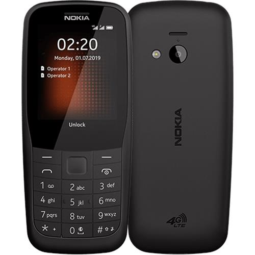 Nokia 220 4G Dual Sim Black 16QUEB01A02