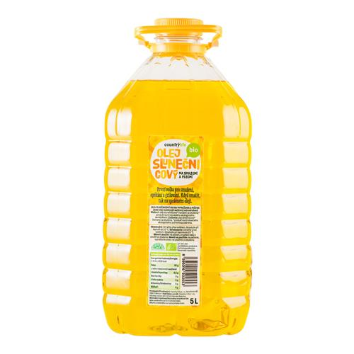 Olej slnečnicový na vyprážanie a pečenie 5 l BIO COUNTRY LIFE 430043
