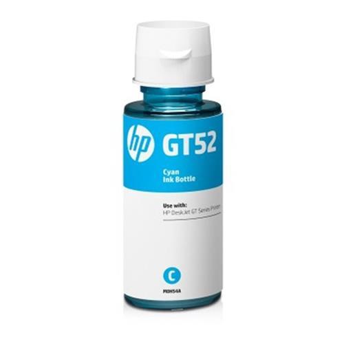 HP originál ink bottle M0H54AE, No.GT52, cyan, 8000str., 70ml, HP DeskJet GT serie