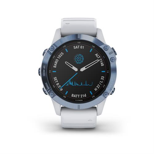 Garmin fenix 6 Pro Solar  Mineral Blue  Whitestone Band 010 02410 19