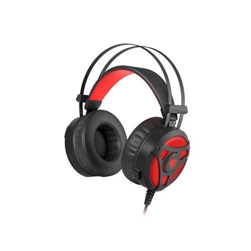 Herné sluchádlá s mikrofónom Genesis Neon 360, Stereo, vibrácie, červené podsvietenie NSG-1107