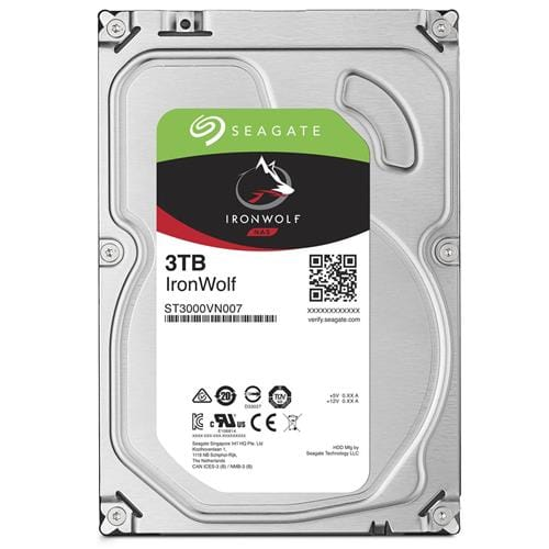 Pevný Disk Seagate IronWolf 3TB, 64MB, SATAIII, 5900rpm, NAS ST3000VN007