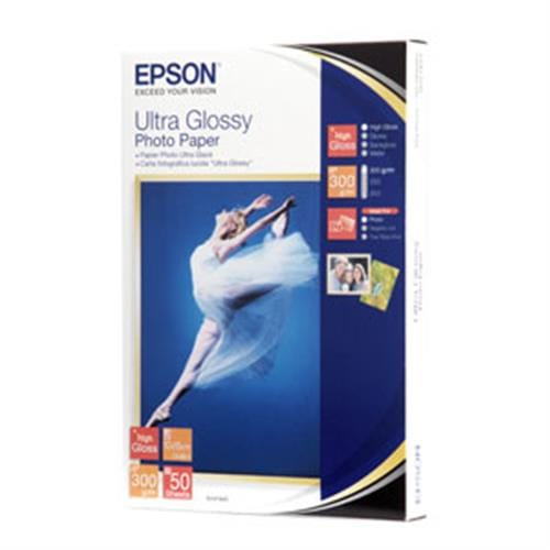 Papier EPSON Ultra Glossy Photo Paper 10x15, 50ks, 300 g/m2 C13S041943