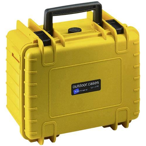 Outdoorový kufrík 6.6 l B & W outdoor.cases Typ 2000 žltá 2000/Y/SI 1914253