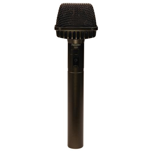 Mikrofón Superlux E523D kondenzátorový 50Hz-18kHz, stereo, napájanie batérie, alebo fantóm - čierny