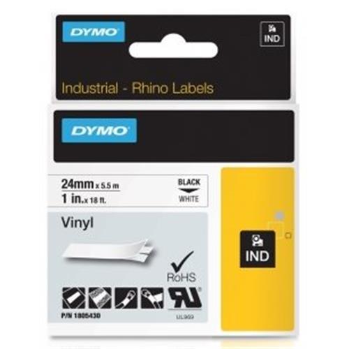 páska DYMO 1805430 PROFI D1 RHINO Black On White Vinyl Tape (24mm)